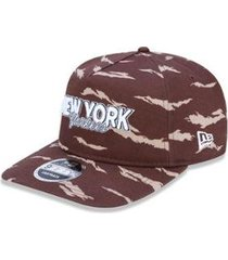 bone golfer new york yankees mlb aba curva snapback marrom new era