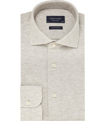 profuomo the knitted shirt beige melange