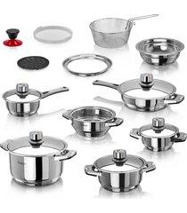 ollas multinivel 19 pcs con 11 capas de acero chef master