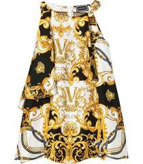 young versace midi dress with multicolor baroque press