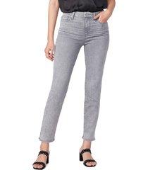 women's paige cindy high waist straight leg jeans, size 30 - grey