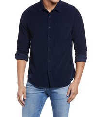 men's ag colton corduroy button-up shirt, size xx-large - blue/green