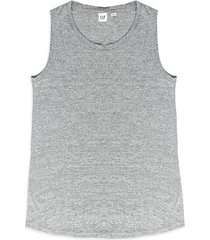 camiseta esqueleto gris gap light grey marle