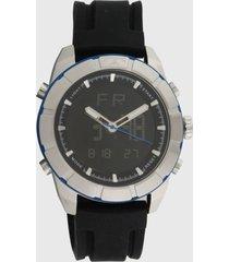 relógio technos bj3340ab/8p preto/prata