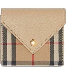 burberry vintage check folding wallet - neutrals