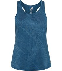 q speed fuel jacquard tank t-shirts & tops sleeveless blå new balance