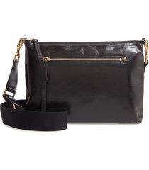 isabel marant new nessah calfskin leather crossbody bag - black