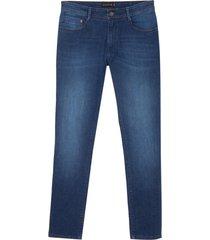 calça dudalina jeans clean blue masculina (jeans medio, 52)