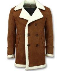mantel tony backer imitatie bontjas lammy coat lang