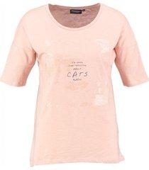 broadway roze t-shirt met glitteropdruk