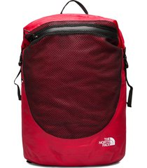 waterproof rolltop rugzak tas rood the north face