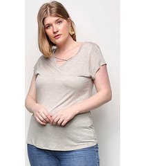 camiseta lecimar tiras feminina - feminino