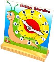 relógio carimbrás educativo multicolorido
