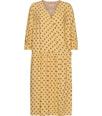 dress long sleeve knälång klänning gul noa noa