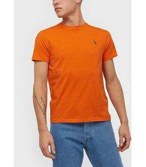 polo ralph lauren short sleeve t-shirt t-shirts & linnen orange