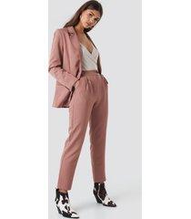 na-kd classic high waist cigarette pants - pink