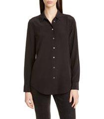 women's equipment essential silk blouse, size large - black