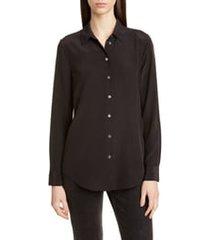 women's equipment essential silk blouse, size small - black