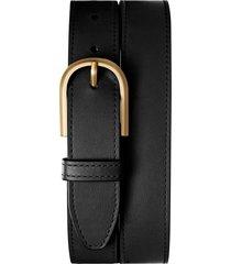 women's shinola u-buckle leather belt, size large - black