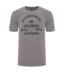 camiseta masculina roadburners - cinza