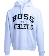 hugo boss boss x russell athletic cotton blend sweatshirt