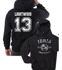 lightwood 13 idris university shadowhunters unisex hoodie s - 3xl black