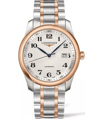longines master automatic bracelet watch, 40mm