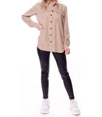 helle tencel cargo blouse