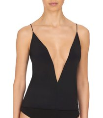 natori affair cami bodysuit, women's, black, size xl natori