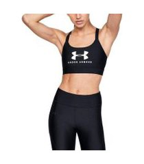 top esportivo feminino under armour mid sportstyle graphic