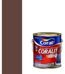 esmalte sintético brilhante coralit marrom 3,6l - coral - coral