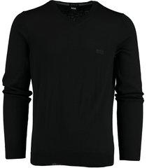 hugo boss baram-l pullover zwart regular 50435454/001