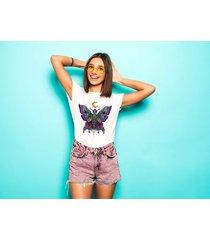 koszulka damska oversize z nadrukiem butterfly