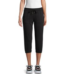 marc new york performance women's cropped joggers - grey - size xl