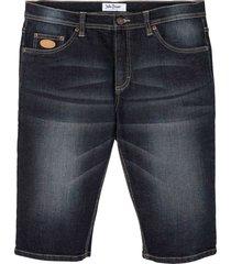 bermuda di jeans elasticizzati regular fit (blu) - john baner jeanswear