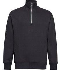 m. miles zip sweatshirt sweat-shirt trui zwart filippa k