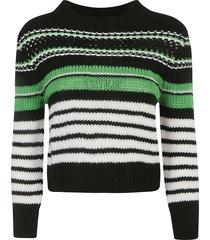 ermanno scervino stripe cropped woven sweater