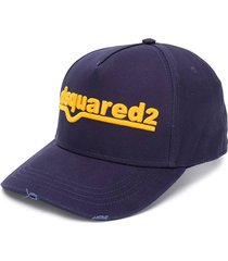 dsquared2 navy blue ocher baseball cap