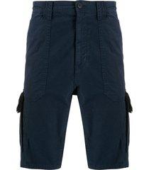 boss multi-pocket shorts - blue