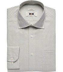 joseph abboud olive check dress shirt