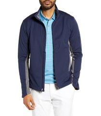 men's big & tall cutter & buck navigate soft shell jacket, size 5xb - blue