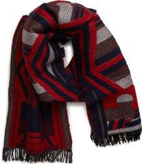 women's tory burch maverick whipstitch scarf, size one size - red