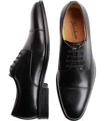 florsheim men's caputo black cap-toe derbys - size: 11.5 d-width