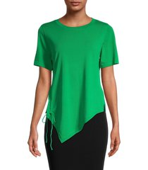 patrizia luca women's side-ruched knit top - lime - size s