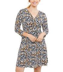 motherhood maternity nursing wrap dress