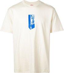 supreme payphone print t-shirt - neutrals