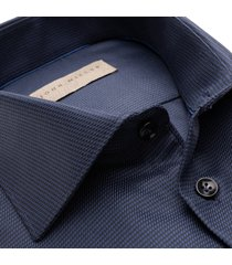 john miller overhemd navy oxford widespread two ply ml7 tailored fit