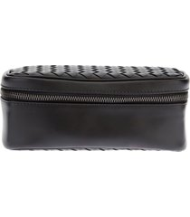 bottega veneta woven watch travel case - black
