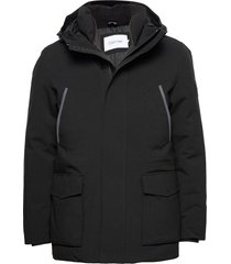 premium canvas technical jacket tunn jacka svart calvin klein