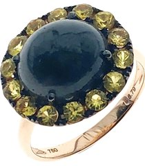18kt gold oval cabochon ring